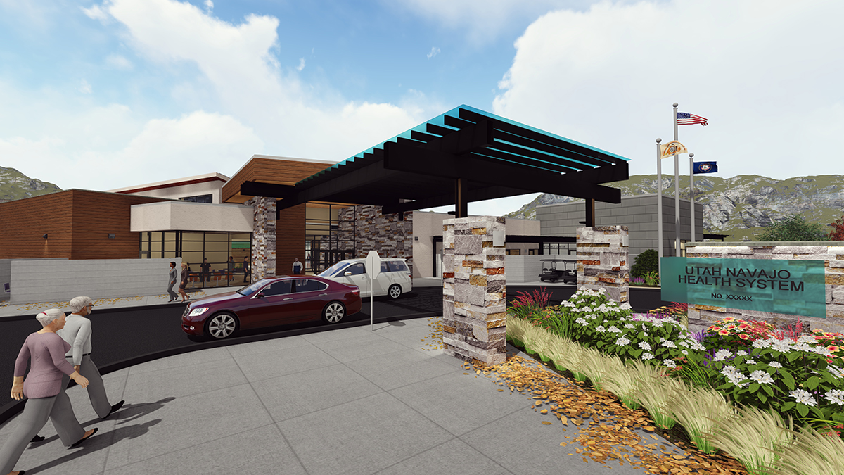 Blanding Health Center Porte Cochere